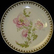 Haviland Limoges Plate with Poppies