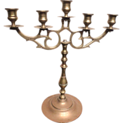 REDUCED 19th century Brass candelabra