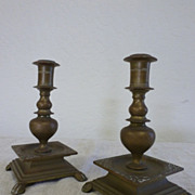 REDUCED Pair of Austrian bronze candleholders