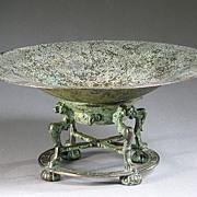 REDUCED 1920 - Oscar B Bach Studios bronze tazza