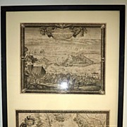 REDUCED Set of 2 17th century European engravings by Baron Samuel of Pufendorf