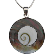 REDUCED Shell and mother of pearl pendant and earrings