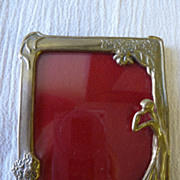 REDUCED Art Nouveau brass picture frame