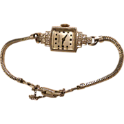 REDUCED Vintage Perraux wristwatch in 14K gold and diamonds