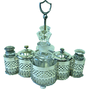 REDUCED Early 20th century silver plated cruet