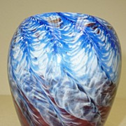 REDUCED Art glass vase signed Hicks