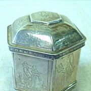 REDUCED Small sterling octagonal wedding box