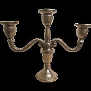 Weighted sterling candelabra