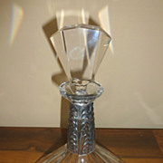 REDUCED Art Deco crystal Czechoslovakian decanter
