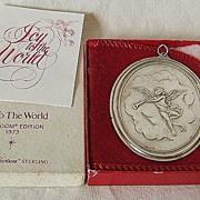 '73 Sterling Ornament – Oneida – Heirloom Series – Joy To The World