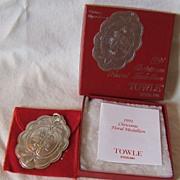 SALE '91 Towle Christmas Floral Medallion – Christmas Chrysanthemum