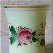 SALE Signed Heisey Ringed Band Custard Glass Tumbler – 1909