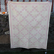 1904 Pink and White Crib Quilt