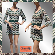 Vintage Missoni Knit Dress - Silk & Wool - M