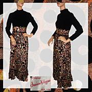 Vintage 1960s Black Velvet on Lamé  Dress Ladies Size S / Junior Vogue New York