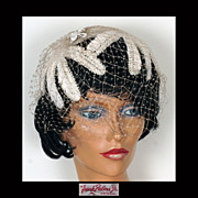 Vintage 1960s Straw Bandeau Hat - Frank Palma, Jr.
