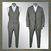 Vintage early 60s 3 Piece Mens Suit // 1960s Glen Check Light Wool British Invasion Mad ...