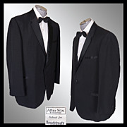 Vintage 60s After Six Rudofker Mens Tux Jacket // early 1960s Black Mohair Tuxedo Dinner Jacke