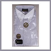 1970s Gray Mens Dress Shirt NOS St Michael Size L 16