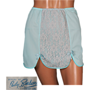 Vintage 1960s Blue Half Slip for a Mini Skirt Unused NOS Size S