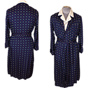 Vintage Tootal Dressing Gown 1950s Mens Lounging Robe Size Medium