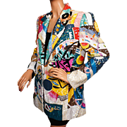 REDUCED Vintage 80s Beaded & Sequined Jacket - Pop Art