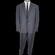 Vintage 60s Mens Gray Suit - Mad Men Era Size XL
