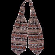 Vintage Yves Saint Laurent Paris Silk Ascot Foulard Cravat Tie