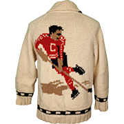 Vintage 50s Hockey Player Cowichan Sweater Mary Maxim Pattern 502 1950s