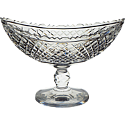 Antique Anglo Irish Cut Glass Fruit Salad Bowl Boat Shape Compote Waterford Cork 19th c