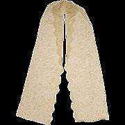 Vintage Yellow Chantilly Lace - Shawl Spanish Mantilla Head Scarf Veil
