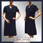 Vintage 1960s Jean Patou Dress // Collection Boutique Paris Made in France Ladies Size M