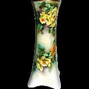 Porcelain Bavaria Yellow Rose Stem Vase