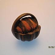 Pin Basket in Horn - Victorian/Edwardian