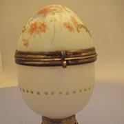 Glass Egg Trinket Case - Victorian