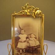 "Brass ""Rose"" Photo Frame - Victorian"