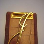"""J"" Paper Clip - Victorian/ Edwardian"