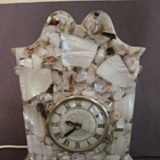 Lanshire Mother of Pearl Mantel Clock, Tennessee Shell Co