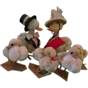 SOLD Fuzzy chenille Chicks & Geese