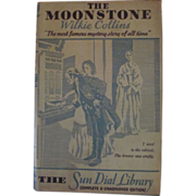Moonstone, HB DJ, Wilkie Collins, The Sun Dial Library, Harper & Brothers, Garden City ...