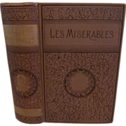 SOLD 1887 Les Miserables by Victor Hugo, Thomas Crowell & Co, Illustrated, One Volume, Transla