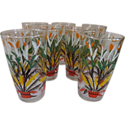 SOLD 7 South Western Festive Tumblers