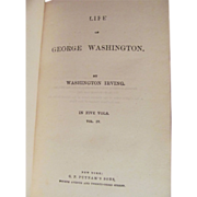 1857 Life of Washington by Washington Irving, Vol 4, Publ G P Putnam's Son