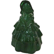 Boyd's  Glass Louise Doll, Furr Green, Marked