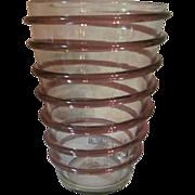 1950's Blenko Spiral Vase #474