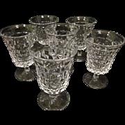 "6 Fostoria American Water / Tea Goblets, 5 1/2"""