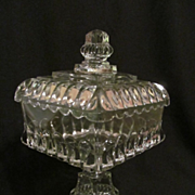"SOLD EAPG Adams Crystal Wedding 13 1/4"" Covered Compote"