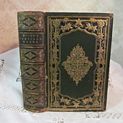 1858 The Poetical Works of Thomas Moore, Complete in One Volume, Illustrated, Publ Leavitt & A