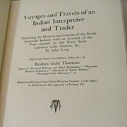 1904 Early Western Travels 1748-1846, Volume II, John Long, Fold Out Map, Edited by Reuben Gol