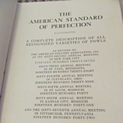 1942 American Standard of Perfection,  A Complete Description of all Recognized Varieties of F
